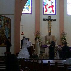 Photo taken at Gereja Katolik Kristus Raja by Veronica N. on 2/17/2013
