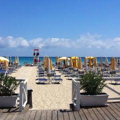 Photo taken at Spiaggia di Mondello by Roberta I. on 6/12/2013