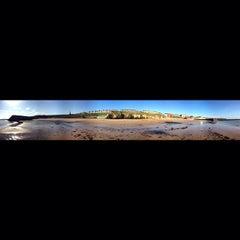 Photo taken at Cullercoats Beach by Jon B. on 4/16/2014