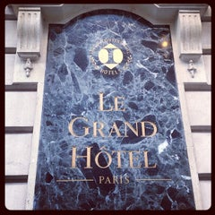 Photo taken at InterContinental Paris Le Grand Hôtel by Alex Z. on 5/8/2013