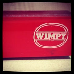 Photo taken at Wimpy by Lindie on 12/23/2013