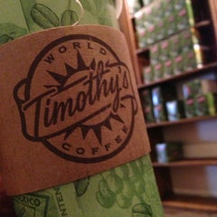 Photo taken at Timothy's World Coffee by Lucas P. on 5/22/2013