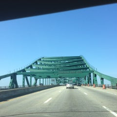 Photo taken at Piscataqua River Bridge by beckie l. on 4/27/2013