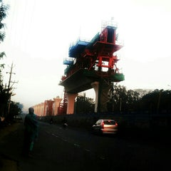 Photo taken at Uppal Ring Road by Yashwanth R. on 12/22/2012