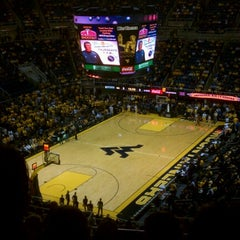 Photo taken at WVU Coliseum by Tom B. on 1/12/2013