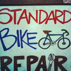 Photo taken at Standard Bike Repair by Colorado Card on 2/7/2013