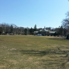 Photo taken at Memorial Park Playground by Neal H. on 3/26/2014