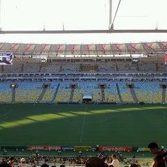 Photo taken at Estádio Jornalista Mário Filho (Maracanã) by Cesar F. on 1/25/2014