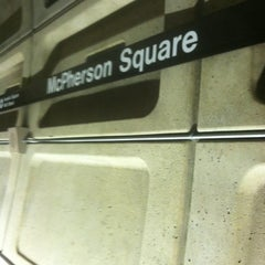 Photo taken at McPherson Square Metro Station by Lauren M. on 4/22/2013