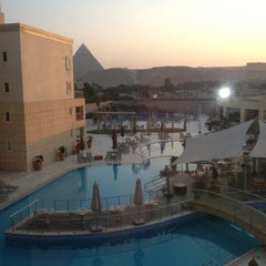 Photo taken at Le Méridien Pyramids Hotel & Spa by Omar C. on 12/16/2012