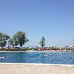 Photo taken at Strandbad Bregenz by Merve D. on 7/14/2013