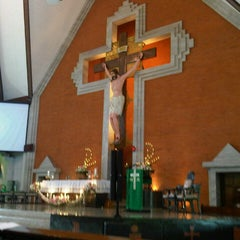 Photo taken at Gereja Katolik Redemptor Mundi by Monika P. on 1/27/2013