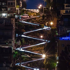 Photo taken at Lombard Street by Thai C. on 6/19/2013