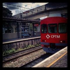 Photo taken at Estação Poá (CPTM) by Alesson N. on 2/26/2013