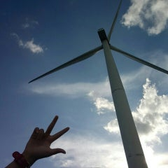 Photo taken at Bangui Windmills by Anne Margarette A. on 6/8/2015