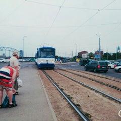 "Photo taken at 7. tramvajs | Ausekļa iela - Tirdzniecības centrs ""Dole"" by Sintija P. on 7/6/2015"