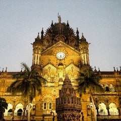 Photo taken at Chhatrapati Shivaji Terminus by Aron M. on 12/30/2013