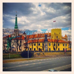 Photo taken at Pils laukums | Castle square by Dmitry K. on 5/14/2013
