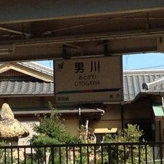 Photo taken at 男川駅 (Otogawa Sta.) by Tohru H. on 10/13/2012