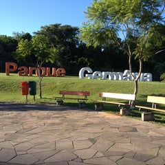Photo taken at Parque Germânia by Maria Anete C. on 3/25/2013