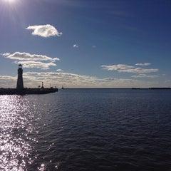 Photo taken at Lake Erie by Davis K. on 11/3/2013