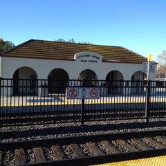 Photo taken at California Ave Caltrain Station by Serkan Ü. on 1/12/2013