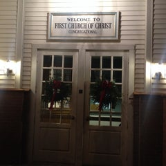 Photo taken at First Church Of Christ Congregational by Eric A. on 12/25/2013