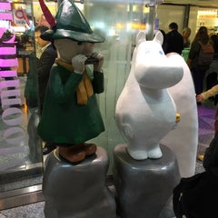 Photo taken at Moomin Shop by Robin A. on 10/7/2014