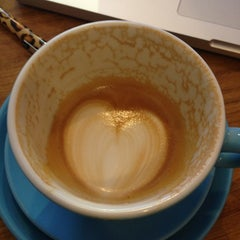 Photo taken at Prufrock Coffee by American Tour Guide in London L. on 3/6/2013