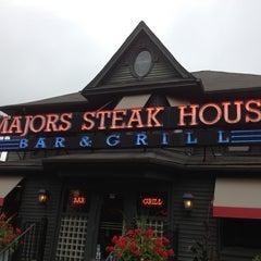 Photo taken at Majors Steak House by Terri K. on 6/30/2013