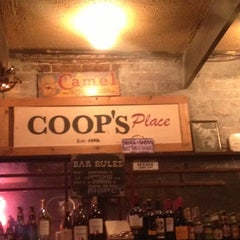 Photo taken at Coop's Place by Derek D. on 11/3/2012