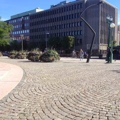 Photo taken at Gustav Adolfs torg by ®ick ©. on 6/25/2014