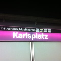 Photo taken at U Karlsplatz by Figaro L. on 10/16/2012