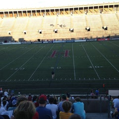 Photo taken at Harvard Stadium by Evgeniy C. on 8/10/2013