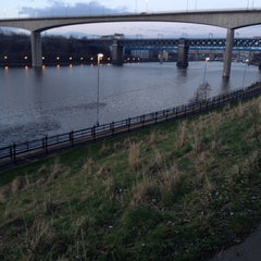Photo taken at Redheugh Bridge by Paul T. on 3/4/2014