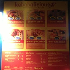 Photo taken at Kebabalicious by Joel T. on 10/28/2012
