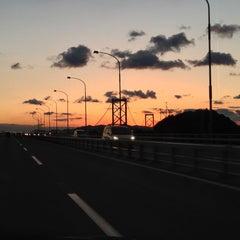 Photo taken at 大鳴門橋 by lyusuke on 1/4/2013