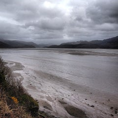 Photo taken at Barmouth Railway Viaduct by Max R. on 4/18/2013