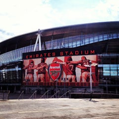 Photo taken at Emirates Stadium by Max R. on 4/24/2013