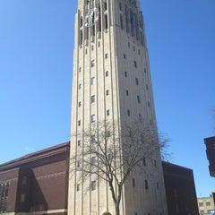 Photo taken at Burton Memorial Tower by Bilal G. on 3/28/2013