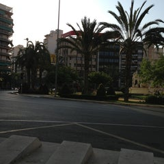 Photo taken at Plaza de Los Luceros by Daniel G. on 7/11/2013
