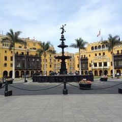 Photo taken at Plaza Mayor de Lima by slys on 2/9/2013