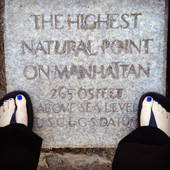 Photo taken at Highest Natural Point In Manhattan by Cari on 5/17/2013