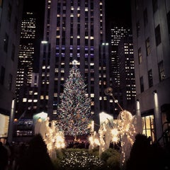 Photo taken at Rockefeller Center Christmas Tree by Cari on 12/11/2012