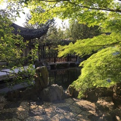 Photo taken at Chinese Scholars' Garden by Cari on 7/25/2015