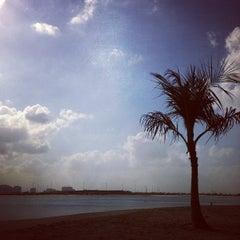 Photo taken at Al Mamzar Park (حديقة الممزر) by Mariya F. on 1/25/2013