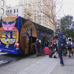 Photo taken at Mega Bus - 7th Ave & 27th St by Max G. on 8/22/2015
