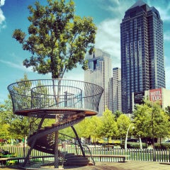 Photo taken at Klyde Warren Park by Anton S. on 7/10/2013