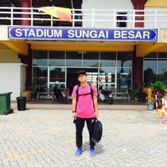 Photo taken at Stadium Sungai Besar by Muhammad A. on 9/10/2015