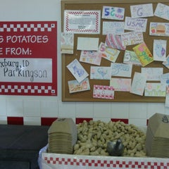 Photo taken at Five Guys by Jessica Renee on 3/18/2014